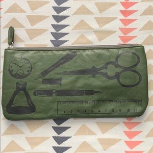 Army Green Graphic Clutch